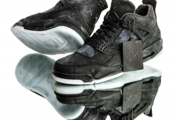 new images★KAWS xNIKE  Air Jordan 4 Black/Black-Clear Glow 930155-001 (カウズ × ナイキ エアジョーダン4)