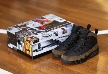 """12月5日発売★ NIKE Air Jordan 9 Boot NRG """"Olive""""  Black/True Red-Light Olive AO4690-012 (ナイキ エアジョーダン 9  Boot NRG)"""