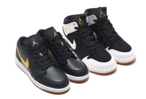 "近日発売★ NIKE Air Jordan 1 GS ""Gold and Gum"" Pack 555112-021  554723-032"