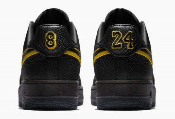 動画★ 12月18日発売★  Nike Air Force 1 Low Black Mamba for Kobe Bryant's Jersey Retirement