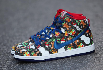 検索リンク追記★Concepts x Nike SB Dunk High Ugly Christmas Sweater Blue Ribbon/Blue Ribbon-Atom Red 881758-446 ( コンセプツ × ナイキ SB ダンク ハイ )