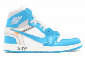 2018年発売★ Off-White xNIKE  Air Jordan 1 White/University Blue 2018 AQ0818-148 (オフホワイト × ナイキ エアジョーダン1))