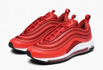 レディース★ Nike WMNS Air Max 97 Ultra Gym Red/Speed Red-Black VALENTINE'S DAY  917704-601 (ナイキ エアマックス 97 バレンタイン)