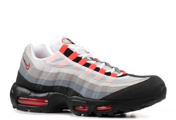 動画★ 3月1日発売★ NIKE AIR MAX 95 WHITE/SOLAR RED-NEUTRAL GREY-MEDIUM GREY  609048-106 (ナイキ エアマックス 95)