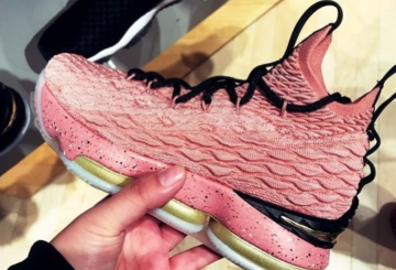 "2月15日発売★ Nike LeBron 15 ""All-Star"" Rust Pink/Metallic Gold-Black 897650-600  (ナイキ レブロン 15 オールスター)"