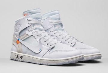 動画★ 3月3日発売★ Off-White xNIKE  Air Jordan 1 White/White  AQ0818-100 (オフホワイト × ナイキ エアジョーダン 1)
