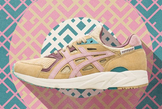 3月17日発売★ ASPHALTGOLD x ASICS GEL-DS TRAINER OG Evening Sand/Hot Pink H7LNK-1720
