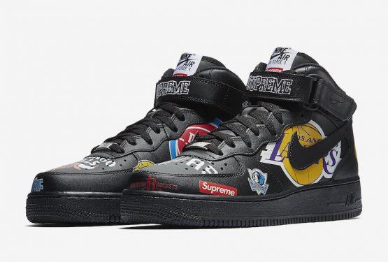 2月発売予定★ Supreme x NBA x Nike Air Force 1 Mid Black/Black  AQ8017-001  (シュプリーム × NBA ×ナイキ エアフォース1 ミッド)
