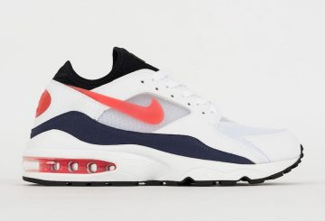 海外展開中★ Nike Air Max 93 White/Habanero Red-Neutral Indigo-Black  306551-102  (ナイキ エアマックス 93)