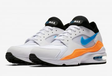 Nike Air Max 93 White/Nebula Blue-Total Orange-Black 306551-104 (ナイキ エアマックス 93)