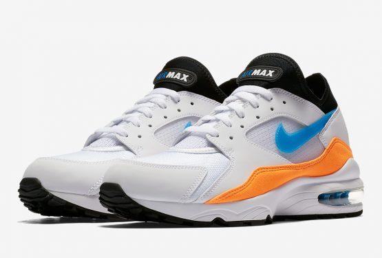 Nike Air Max 93 White/Nebula Blue-Total Orange-Black 306551-104 (ナイキ エアマックス 93)