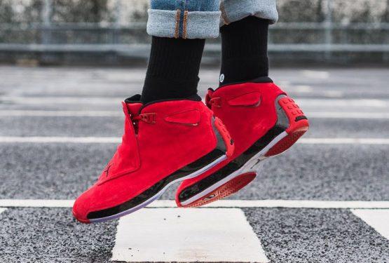 検索リンク追記★動画★ 4月7日発売★ NIKE Air Jordan 18  Gym Red/Black AA2494-601 (ナイキ エアジョーダン 18 )