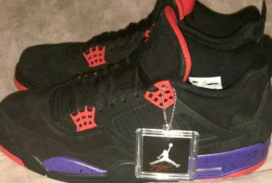 """4月発売★NIKE Air Jordan 4 NRG """"Raptors""""  Black/University Red-Court Purple  AQ3816-056(ナイキ エア ジョーダン 4)"""