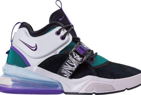 """5月18日発売★ Nike Air Force 270 """"Carnivore""""  Black/Court Purple-Dark Atomic Teal  AH6772-005  (ナイキ エアフォース 270 )"""