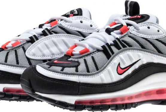 """全2色★5月24日発売★ Nike WMNS Air Max 98 """"Solar Red"""" White/Solar Red-Dust-Reflect Silver AH6799-104 (ナイキ ウィメンズ エア マックス 98)"""