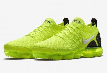 近日発売★ Nike Air VaporMax 2 Flyknit Volt/Black  942842-700 (ナイキ エア ヴェイパーマックス 2 フライニット)