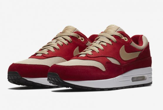 """NIKE AIR MAX 1 CURRY PACK """"RED CURRY"""" Tough Red/Rush Red/Pale Vanilla-Mushroom  908366-600 (エア マックス 1 カレーパック)"""