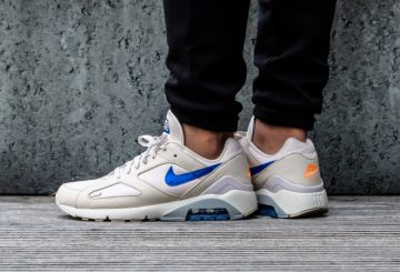 海外展開中★ Nike AIR MAX180 Desert Sand/Racer Blue-Total Orange AQ9974-002  (ナイキ エア マックス 180)