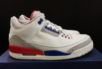 "動画★ 6月30日発売★NIKE  Air Jordan 3 ""Charity Game"" Sail/Sport Royal-Light Bone-Fire Red Style Code: 136064-140  (ナイキ エアジョーダン  3 )"