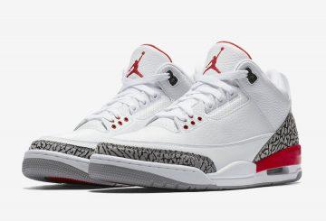 """動画★NIKE Air Jordan 3 """"Katrina""""  White/Cement Grey/Black-Fire Red 136064-116 (ナイキ エア ジョーダン 3 カトリーナ)"""