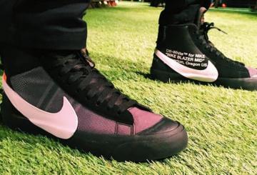 9月発売予定★ Off-White x Nike Blazer Mid  Black/Cone-Black-White  AA3832-001 (オフホワイト × ナイキ ブレイザー MID)