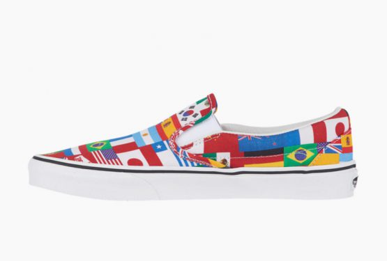 Vans Slip-On  Multi Flags/True White (ヴァンズ スリッポン)