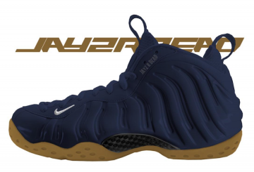 10月発売予定★Nike Air Foamposite One  Midnight Navy/Gum Light Brown-White-Midnight Navy(ナイキ エア フォームポジット ワン)