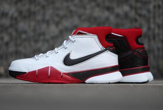 """動画★8月発売予定★ Nike Kobe 1 Protro """"All-Star"""" White/Black-Varsity Red  AQ2728-102 (ナイキ コービー プロトロ """"オールスター""""))"""