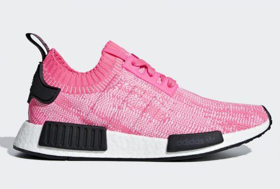 8月1日発売★ adidas NMD R1 Primeknit  Solar Pink/Solar Pink-Core Black  AQ1104  (アディダス NMD R1)
