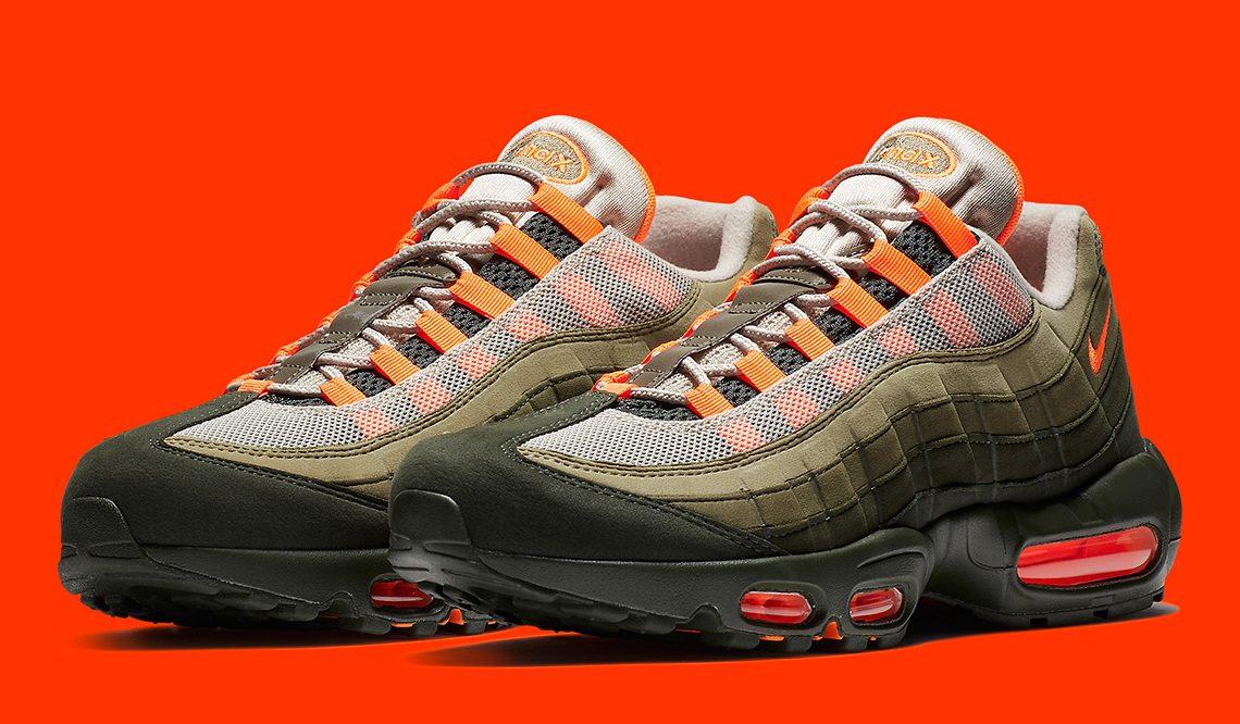 8月16日発売★ Nike Air Max 95 OG  String/Total Orange-Neutral Olive  AT2865-200 (ナイキ エアマックス 95)