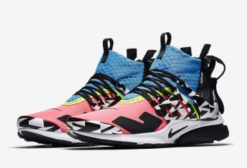 9月8日発売★ Acronym x Nike Air Presto Mid Color: Racer Pink/Photo Blue-White-Black  AH7832-600 Price: $200 (アクロニウム × ナイキ エアプレスト)