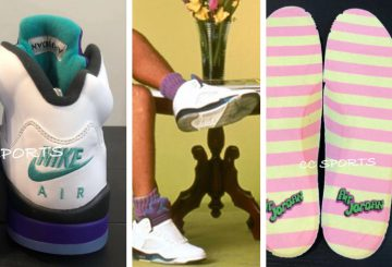 "9月25日発売★ NIKE Air Jordan 5 NRG ""Fresh Prince""  White/Grape Ice-Black-New Emerald (ナイキ エアジョーダン 5)"