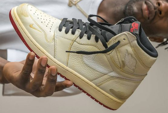 動画★ 9月1日発売★ Nigel Sylvester x Air Jordan 1 High OG Sail/Varsity Red-Reflect Silver-White  BV1803-106