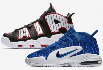 "動画★8月11日発売★ Nike Air Max Penny ""Pinstripe"" Game Royal/White-Black  AV7948-400   Nike Air More Uptempo ""Pinstripe""  Black/White-University Red  AV7947-001"