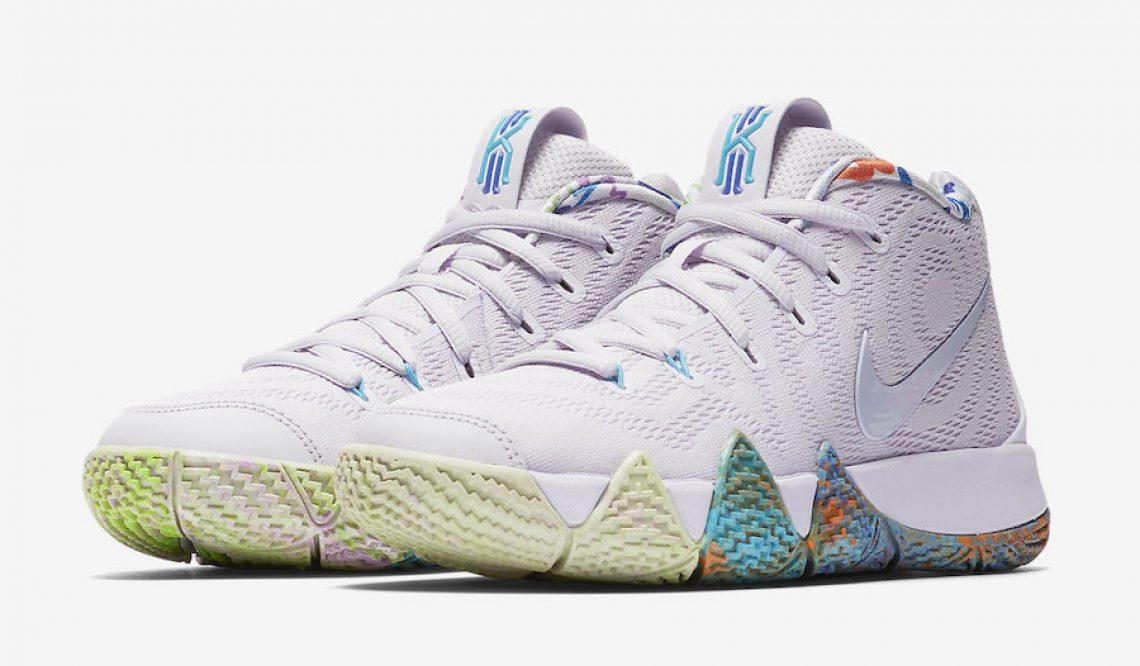 """動画★ 9月1日発売予定★ Nike Kyrie 4 """"90s""""  Multicolor/Multicolor  943806-902 (ナイキ カイリ― 4)"""