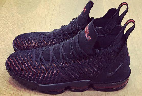 9月20日発売予定★ Nike LeBron 16  Black/Black-University Red  AO2588-002  (ナイキ レブロン 16)