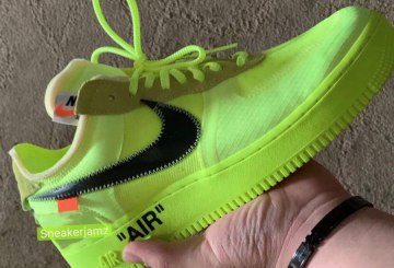 11月発売★Off-White x Nike Air Force 1 Low  Volt/Cone-Black-Hyper Jade  AO4606-700 【オフホワイト×ナイキ エアフォース1】