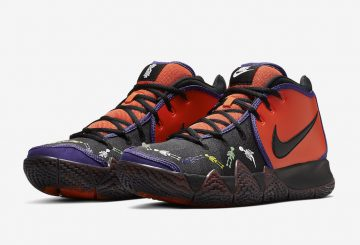 "10月30日発売★ NIKE KYRIE 4 ""DOTD"" TV PE 1 TEAM ORANGE/BLACK-MULTI-COLOR CI0278-800 【ナイキ カイリ― 4 ""死者の日""】"