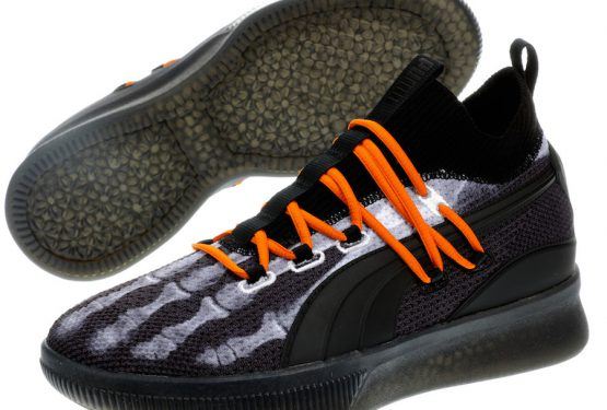 "10月30日発売★PUMA Clyde Court X-Ray Color: Black/White-Orange 191895-01 $120 【プーマ クライド コート ""X-RAY""】"