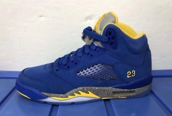 "2019年1月発売★NIKE Air Jordan 5 JSP ""Laney"" Varsity Royal/Light Charcoal-Varsity Maize  CD2720-400 $190"