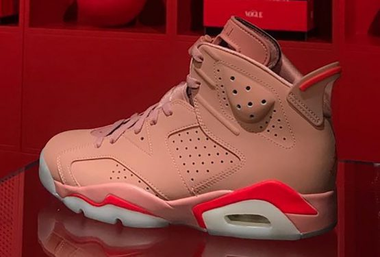 "2019年3月発売★Aleali May x NIKE Air Jordan 6 ""Millennial Pink"" Rust Pink/Bright Crimson  CI0550-600"