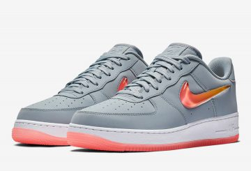 "近日発売★ Nike Air Force 1 ""Jewel""Obsidian Mist/Hot Punch-University Red  AT4143-400 (ナイキ エアフォース 1 ""ジュエル"")"