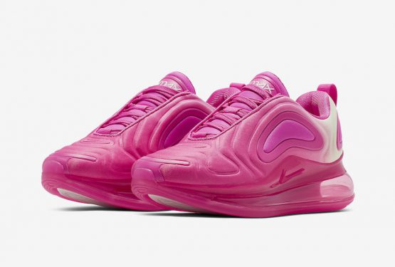 4月11日発売★ Nike Air Max 720 GS Laser Fuchsia/Phantom  AQ3195-601 (ナイキ エア マックス 720 GS)