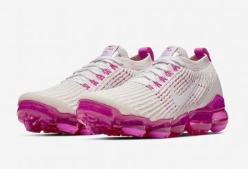 4月11日発売★Nike WMNS Air VaporMax 2019  Summit White/Summit White-Laser Fuchsia-Pink Rise  AR6632-105 $190
