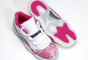 "5月4日発売★NIKE Air Jordan 11 Low WMNS ""Pink Snakeskin"" White/Watermelon-Black  AH7860-106"
