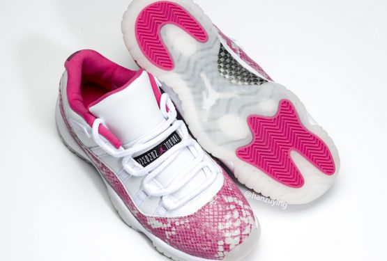"5月4日発売★NIKE Air Jordan 11 Low WMNS ""Pink Snakeskin"" White/Watermelon-Black  AH7860-106"