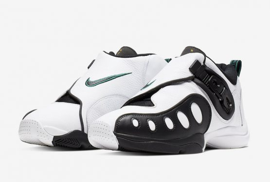 NIKE ZOOM GP WHITE/BLACK-UNIVERSITY GOLD-MYSTIC GREEN AR4342-100