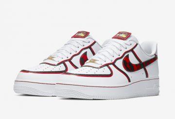 """海外発売中★ Nike Air Force 1 '07 LV8 White/Black-University Red """"DENNIS RODMAN""""  CK6686-100  $100 (ナイキ エアフォース 1 ' LV 8 """"デニス ロッドマン"""""""