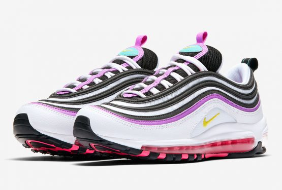 Nike Air Max 97 WMNS  White/Bright Violet-Aurora-Dynamic Yellow Style Code: 921733-106  (ナイキ エア マックス 97 )