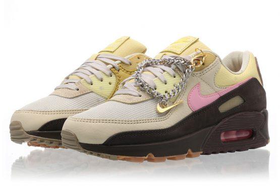 """海外6月11日発売★ Nike Air Max 90 WMNS """"Cuban Link""""  Velvet Brown/Pink-Light British Tan  CZ0469-200  (ナイキ  エアマックス 90 WMNS """"キューバンリンク"""")"""